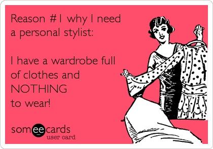 """razón 1: """"Tengo el closet lleno de ropa y nada que ponerme"""""""
