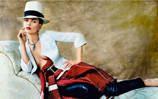 """Kate Moss increíble,"""" L´etoile de Lima"""", Vogue París."""