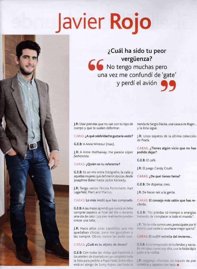 Revista Caras, Lima Personal Shopper