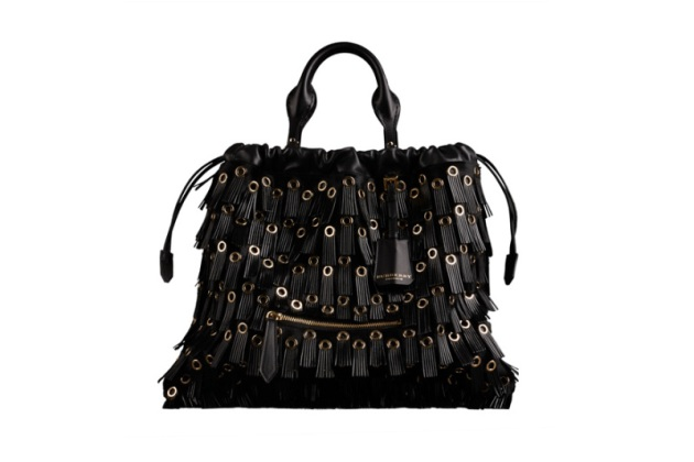 "Burberry prorsum, pony skin, leather fringing and metal, ""The big crush bag"""