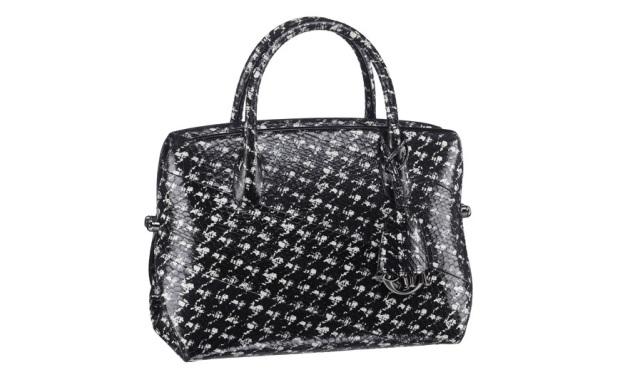 Christian Dior, houndstooth print, snake skin, Dior bag