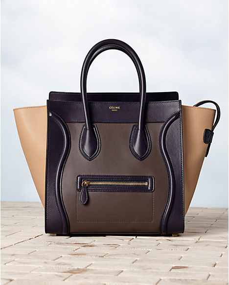Celine, Luggage multicolour in calfskin satin.