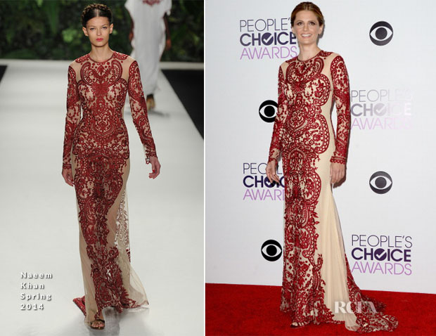 Stana-Katic-In-Naeem-Khan-2014-People's-Choice-Awards