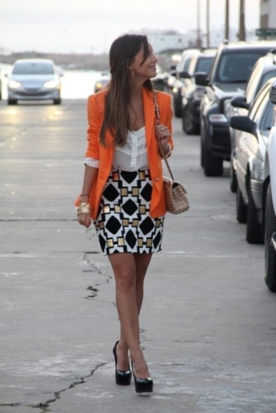 falda y blazer
