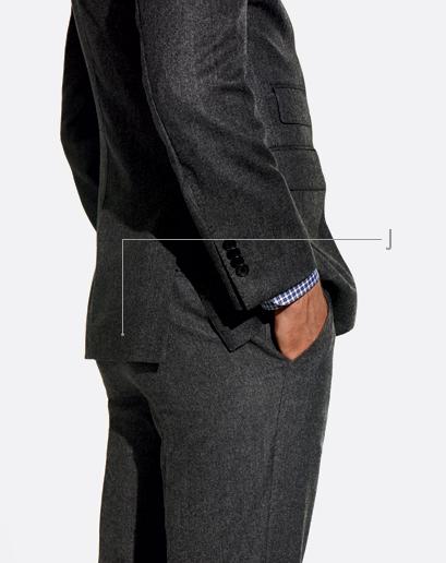 espalda del terno